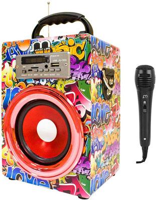 altavoz con microfono karaoke music life